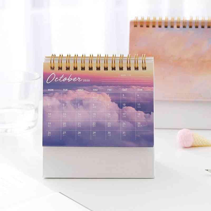 2021 Future Fantasy Sky Series, Desktop Calendar, Dual Daily Schedule, Table Planner