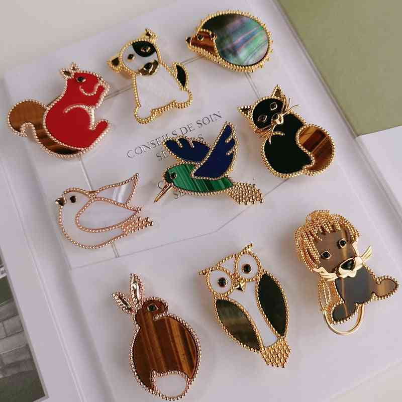 Luxury Pure Silver Jewelry, Gold, Gemstone Brooches