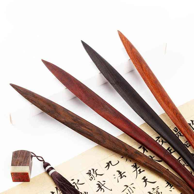 Wood Letter Opener, Wood Paper Cutting Knife, Retro Paper Cutter Utility Tools