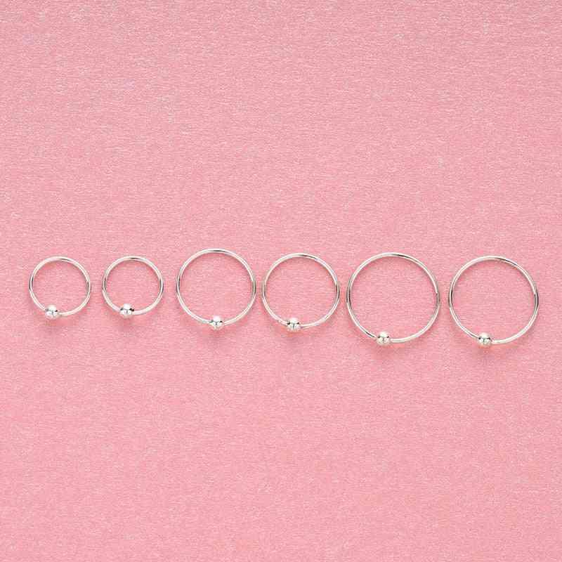 Sterling Ring, Women Earring, Character Joker Hoop Piercing, Nose Rings Small