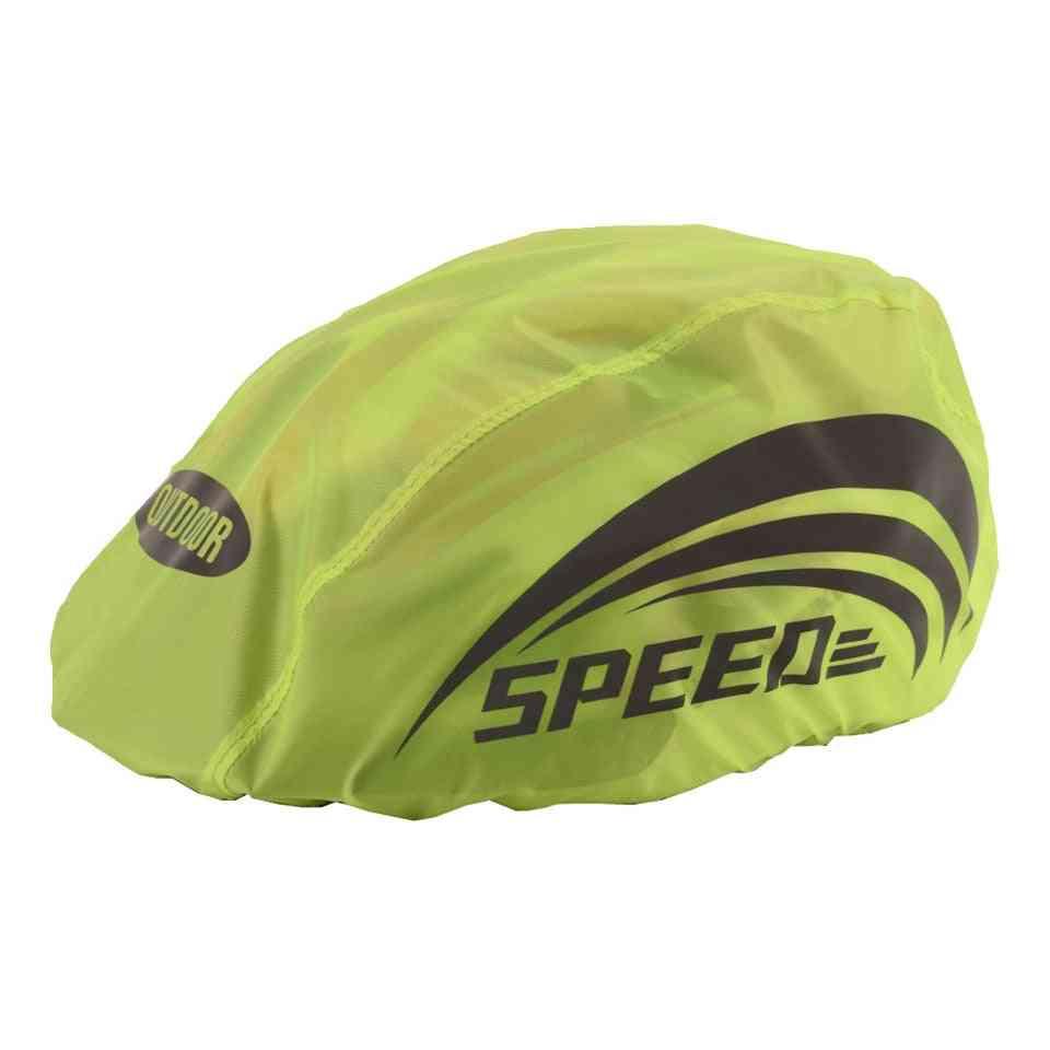 High Visibility Waterproof Cycling Helmet Rain Cover