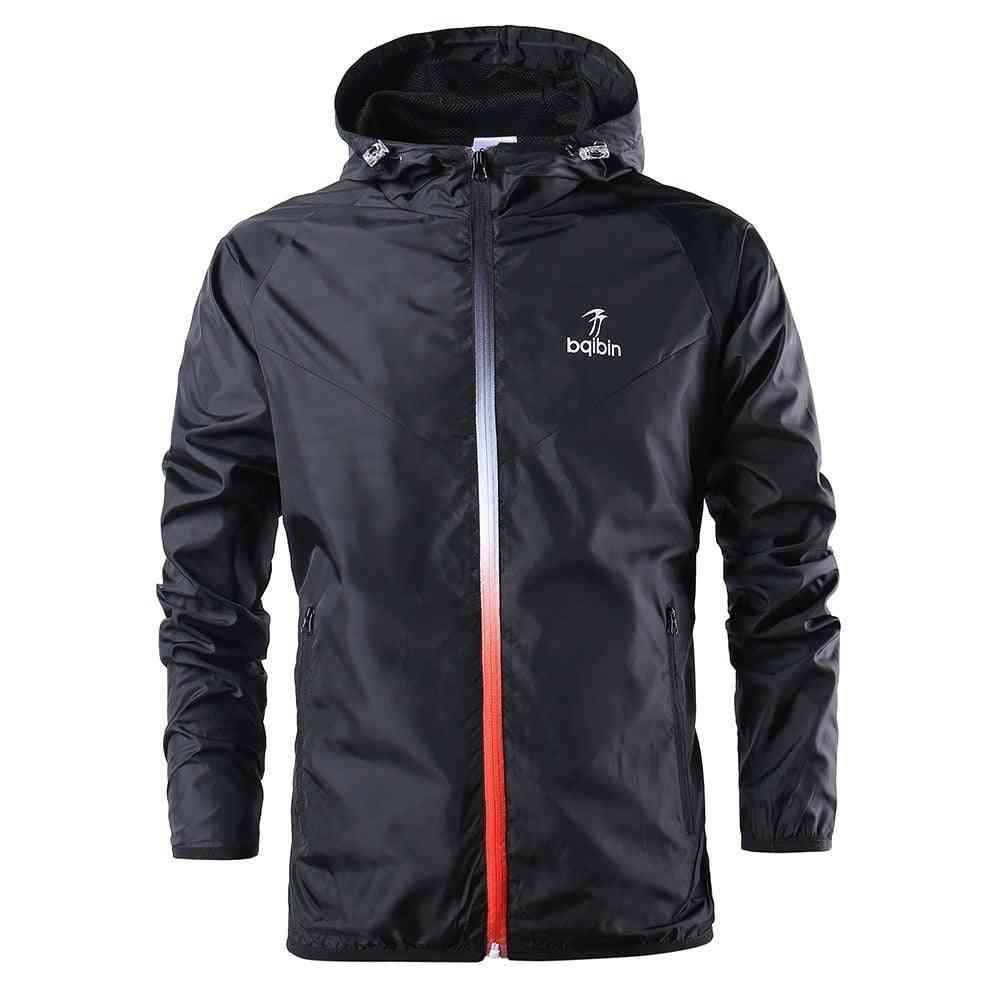 Spring / Autumn Windbreaker Running Jacket,  Man & Woman Gym Hoodie