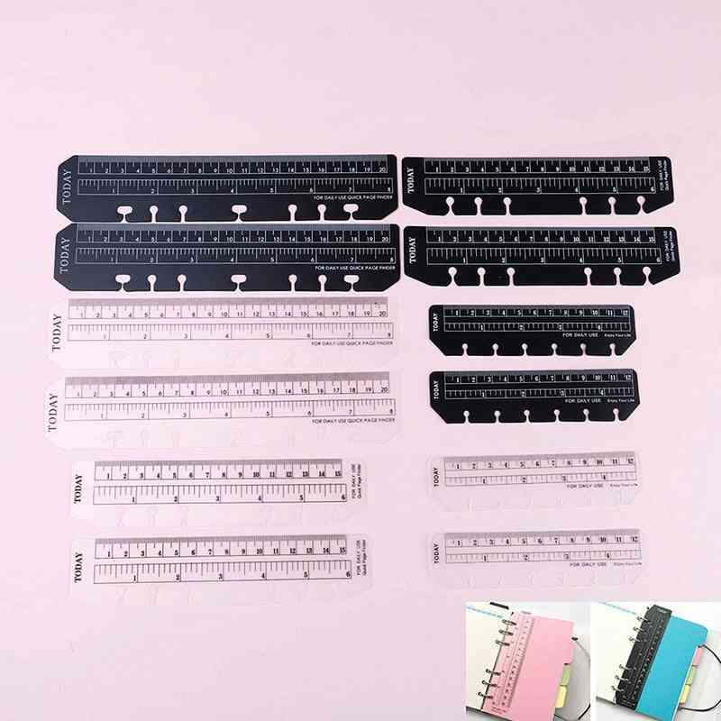 A5/a6/a7 6 Holes Ruler For Binder Planner - Notebooks Office School Index Ruler