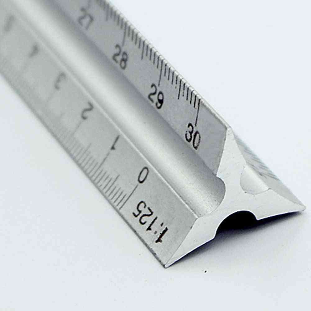 Aluminium Metal Triangle Scale, Architect Engineer Technical Ruler