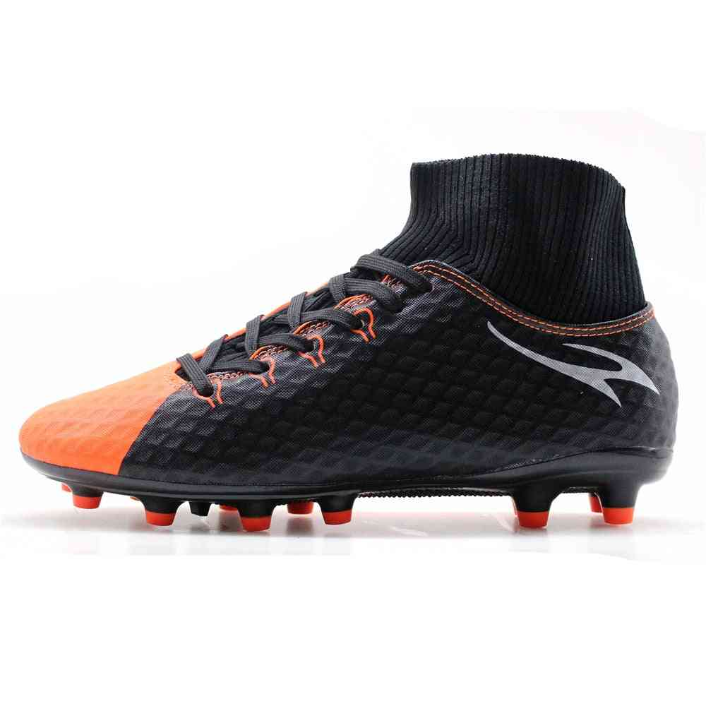 Men's High Ankle Ag Sole Outdoor Cleats Football Boots Shoes Soccer Cleats