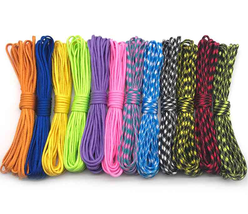 5 Meters Paracord 550 Parachute Cord, 7 Strand Camping Survival Equipment Tents Rope
