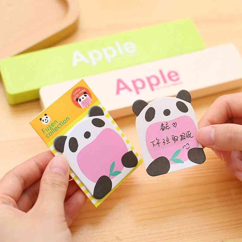 Cute Panda Self-adhesive Memo Pad, Cartoon Animal Paper Sticky Notes