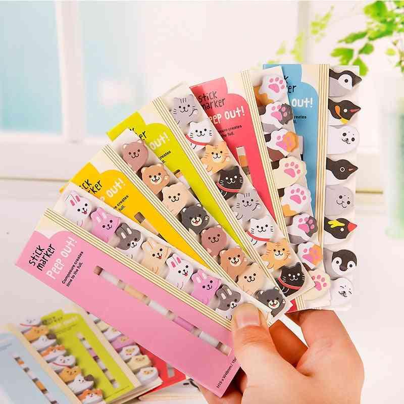 Kawaii  Animal Memo Pad, Bookmarks Creative Cute Sticky Notes