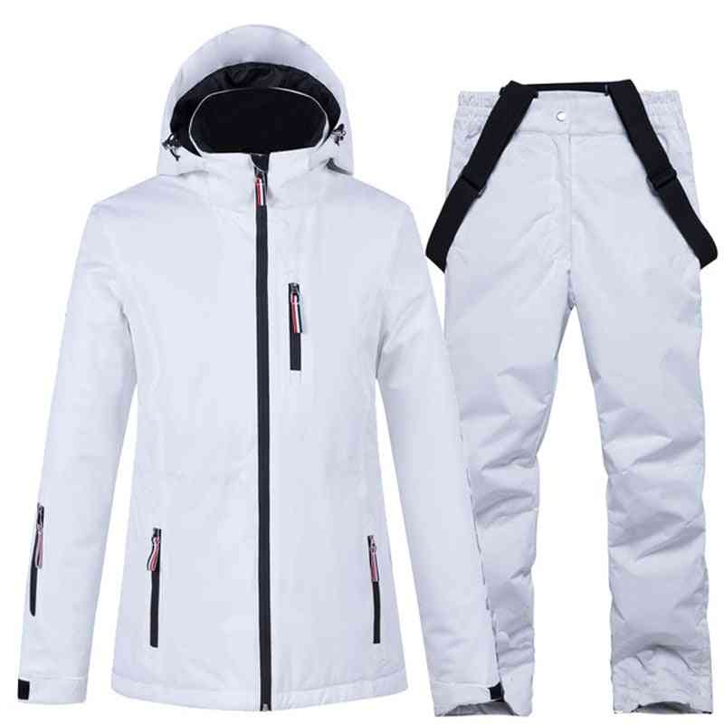 Waterproof Windproof Winter Ski Jacket & Strap Snow Pant Set