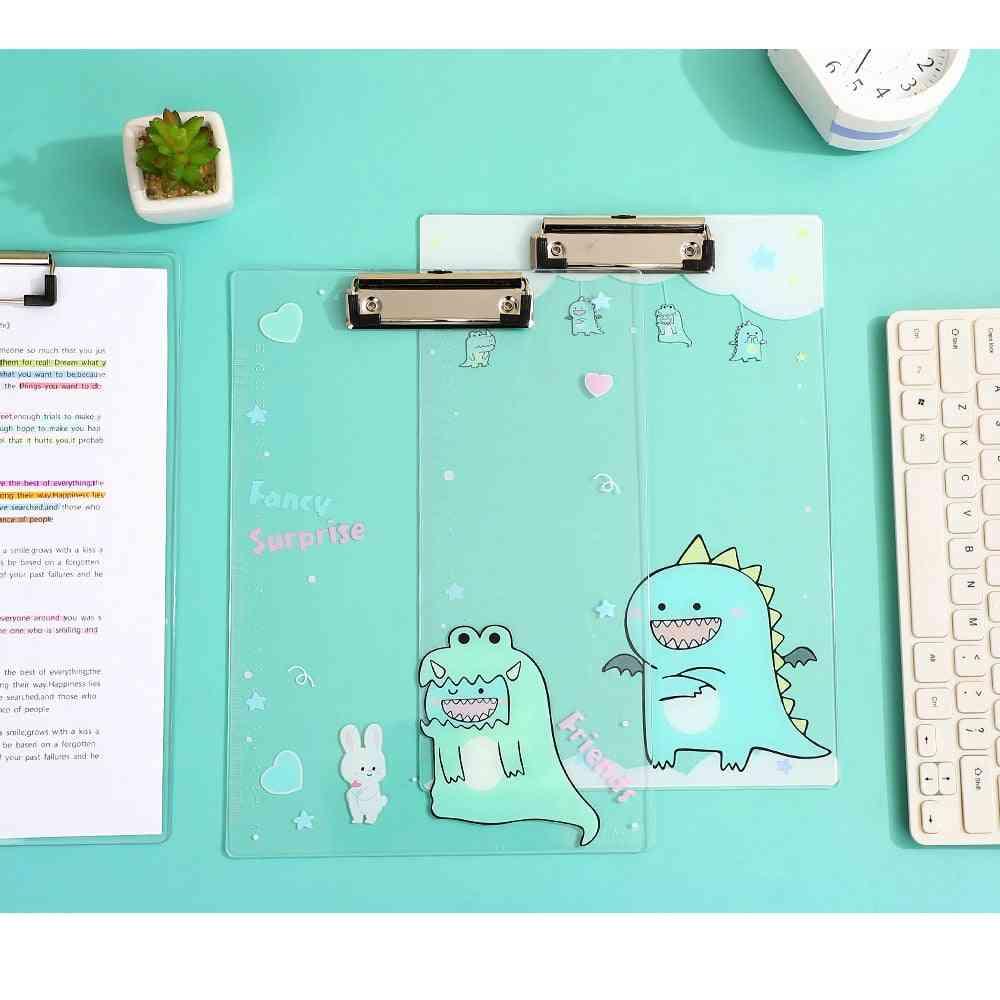 Transparent Hard Plastic Cute Writing Clip Board
