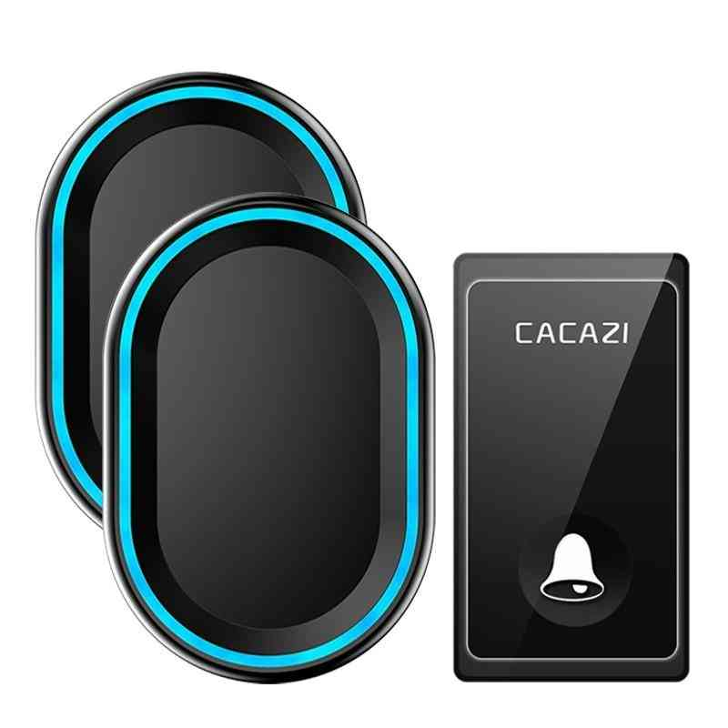Wireless Doorbell 58 Chimes, Self-powered Waterproof, Intelligent Led Ring Bell