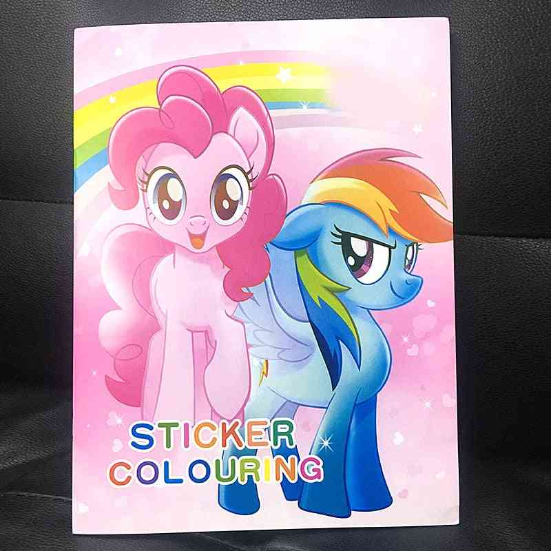 16-page Pony Coloring Sticker Adults Coloring Books
