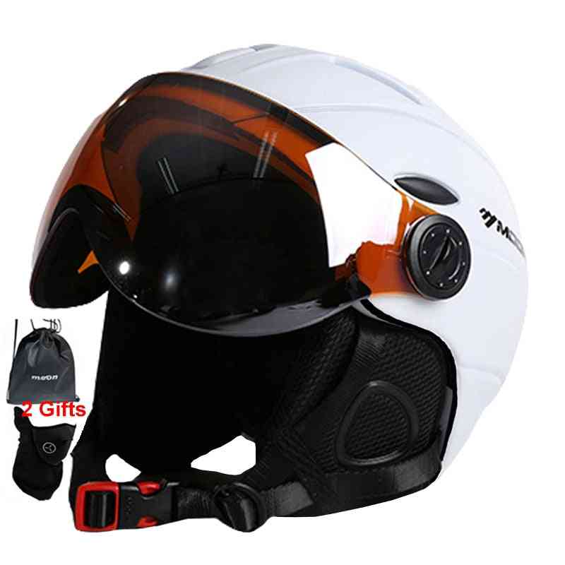 Professional Half-covered Integrally-molded Sports Helmets With Goggles Cover