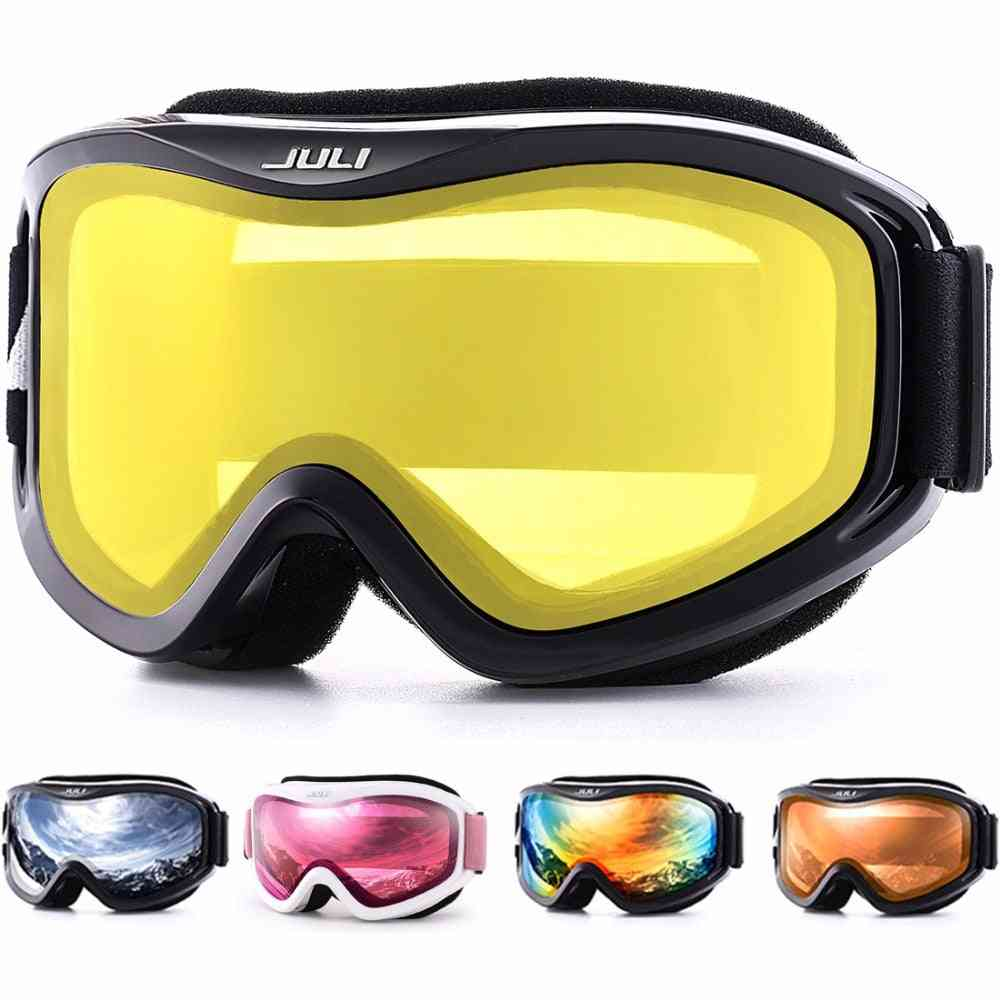 Winter Snow Sports With Anti-fog Double Lens Ski Mask Glasses