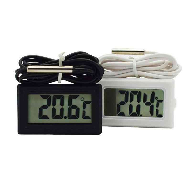 Digital Thermometer Aquarium Electronic Precision Fish Tank Temperature Measuring Tool With Probe