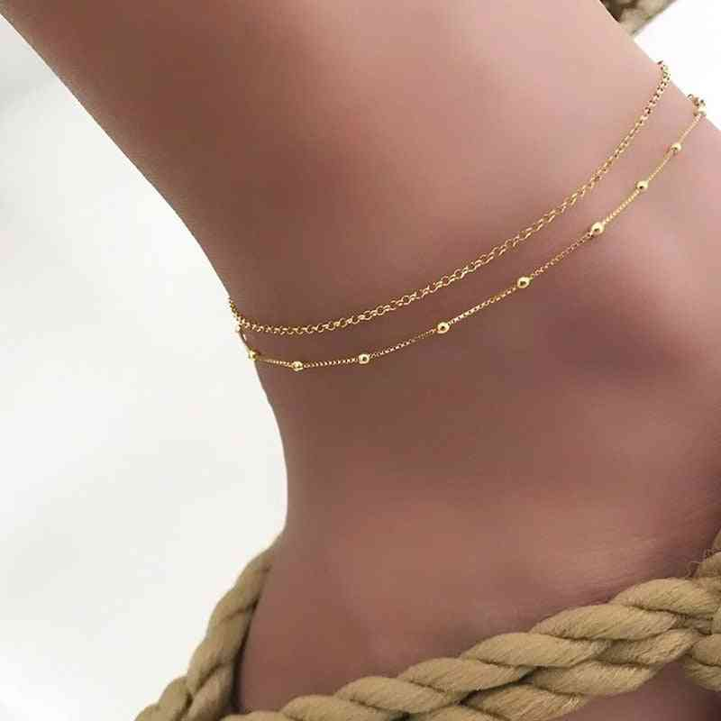 Trendy Female Anklets Barefoot Crochet Sandals, Foot Jewelry