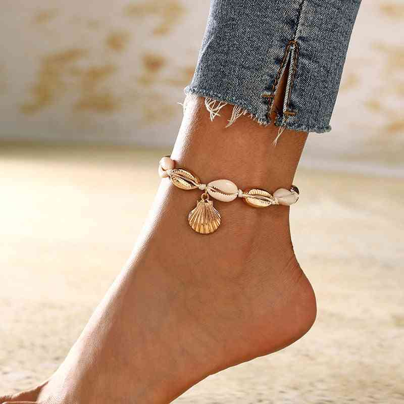 Natural Shell Conch Rope, Anklets Bracelet Foot Jewelry