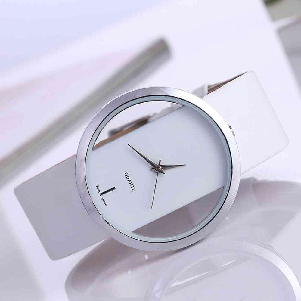 Synthetic Leather Antique Style, Round Shaped Quartz Watch