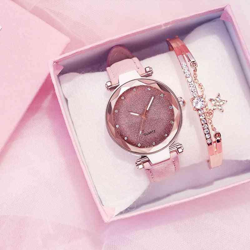Romantic Starry Sky Wrist Watch  For Women