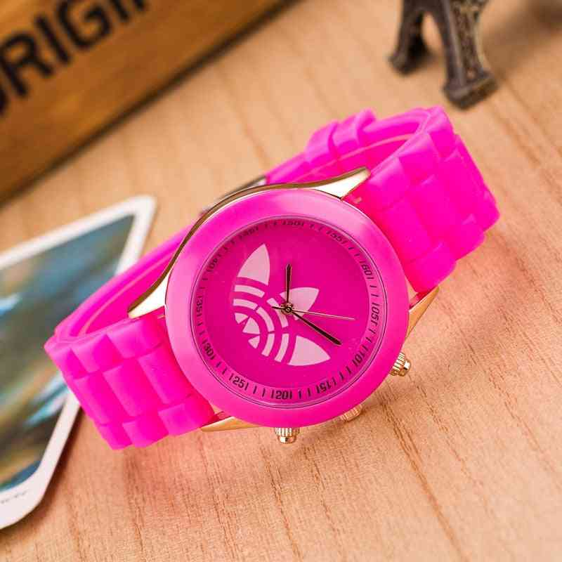 Women Casual Silicone Sports Wrist Watch