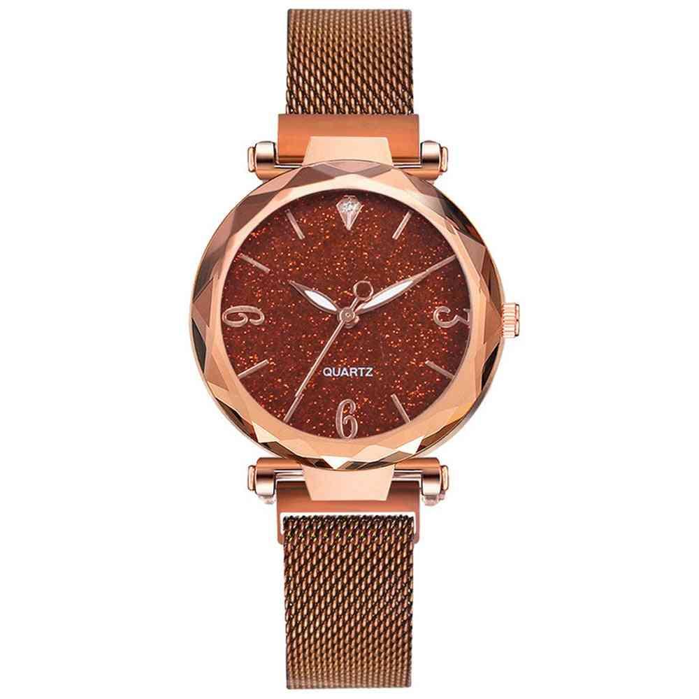 Women Luxury Magnetic Starry Sky, Wrist Watch
