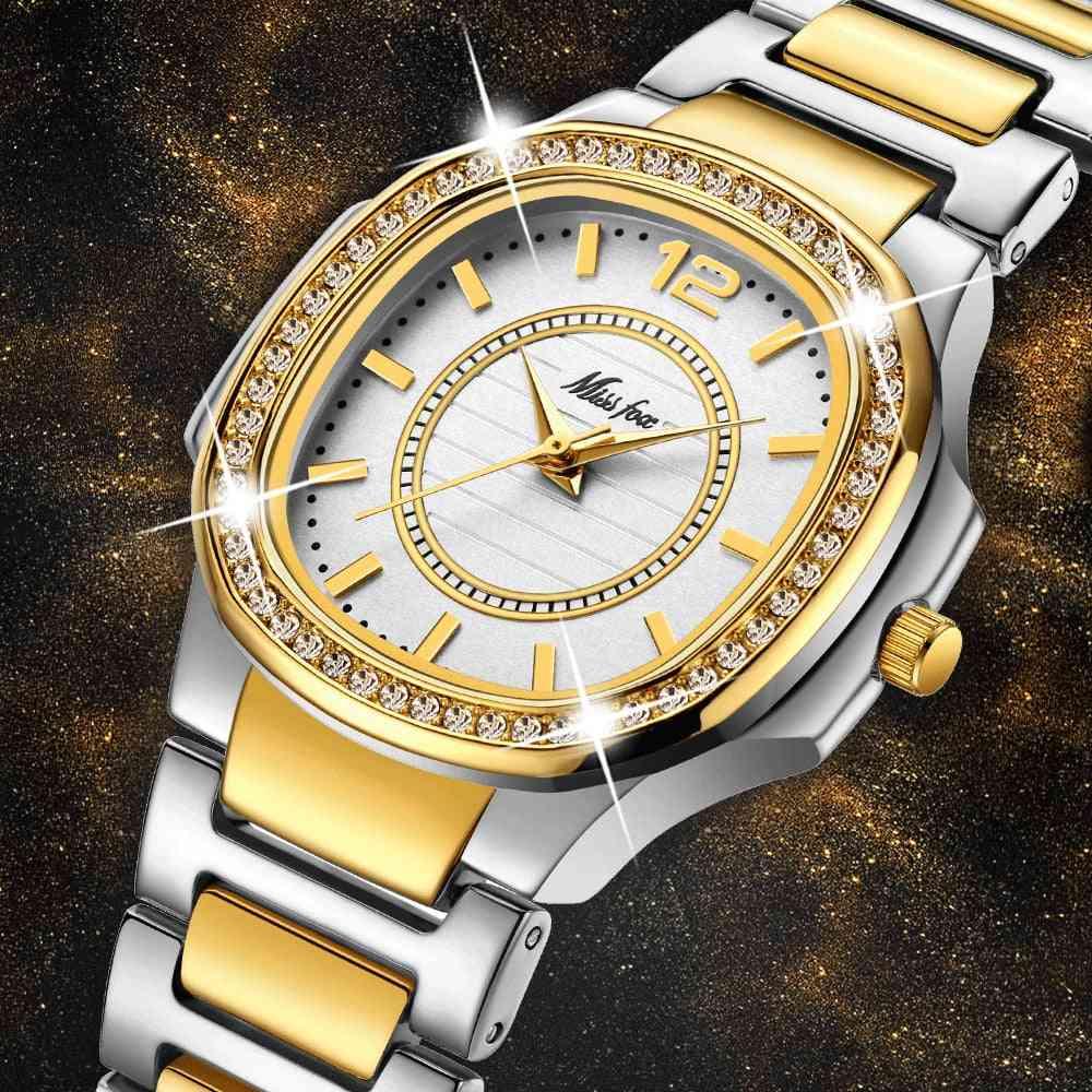 Luxury, Diamond Quartz, Wrist Watch