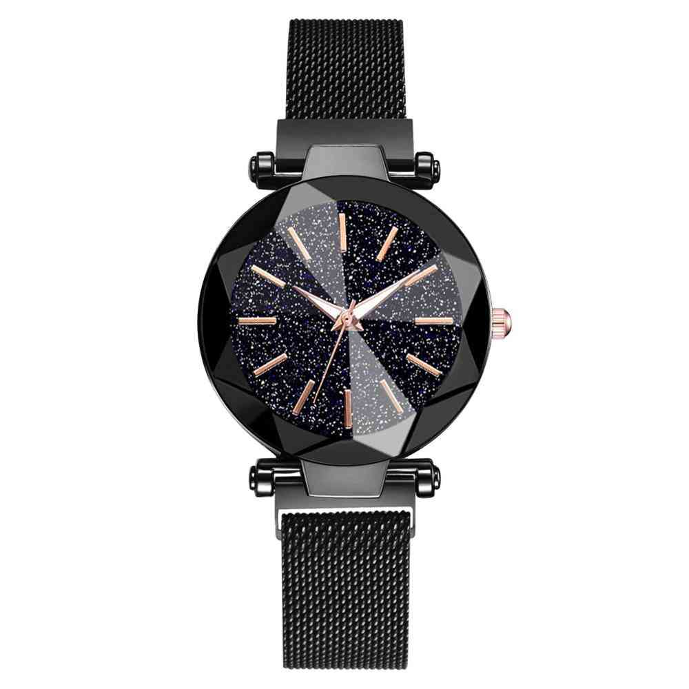 Luxury Starry Sky Stainless Steel Mesh Bracelet Watches