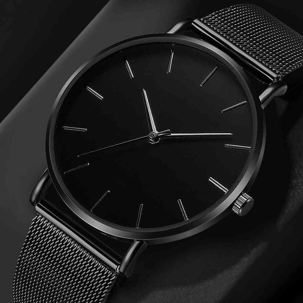 Women's Simple Mesh, Stainless Steel Bracelet Wristwatch