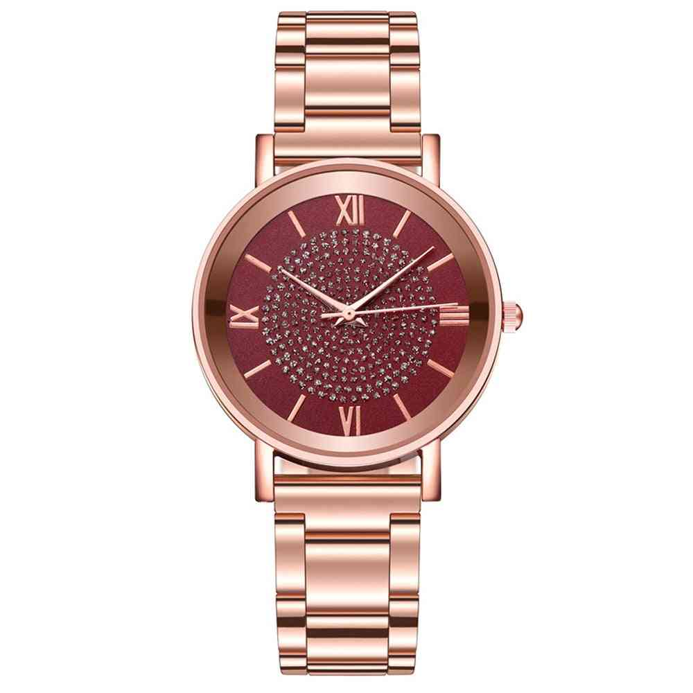 Women Stainless Steel Dial, Casual Bracelet Quartz Watches
