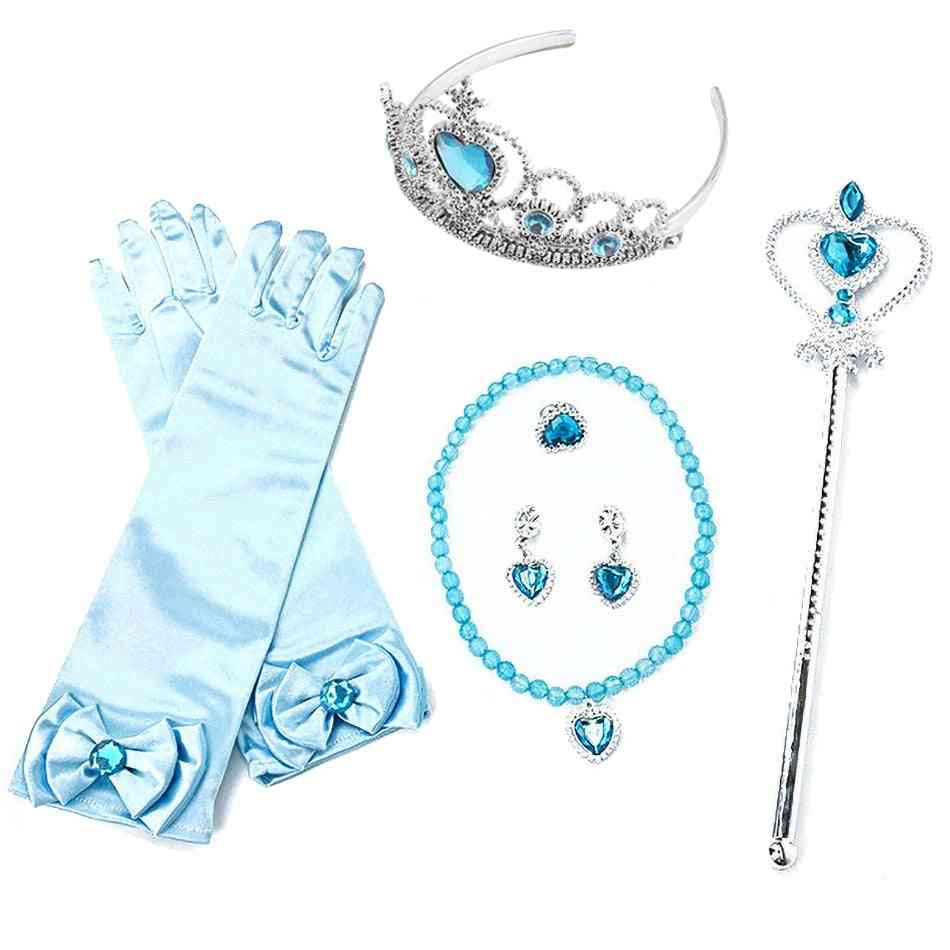 Kids Party Costume, Magic Wand, Tiara Gloves, Wig Braid