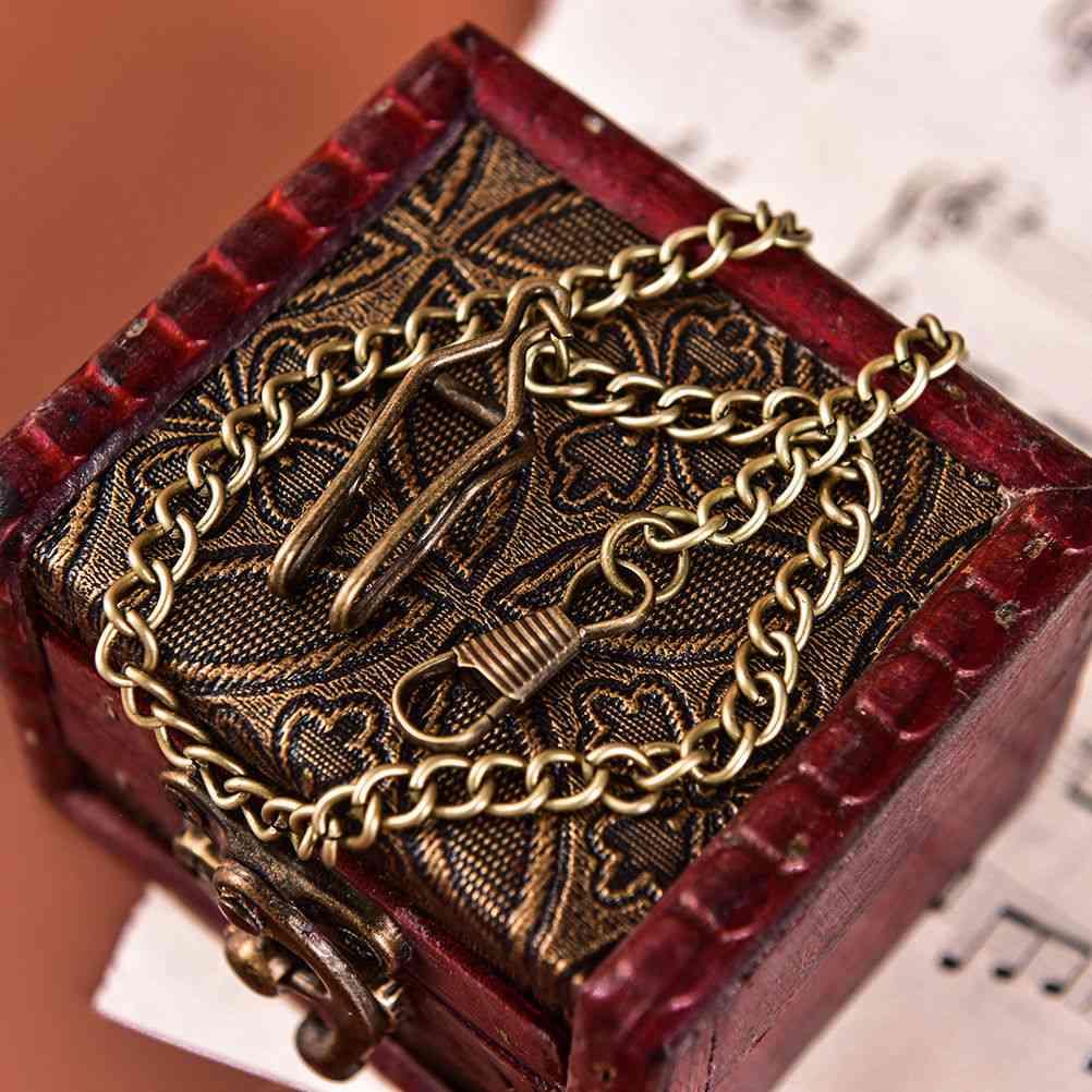 Antique Bronze Alloy Pocket Watch Chains