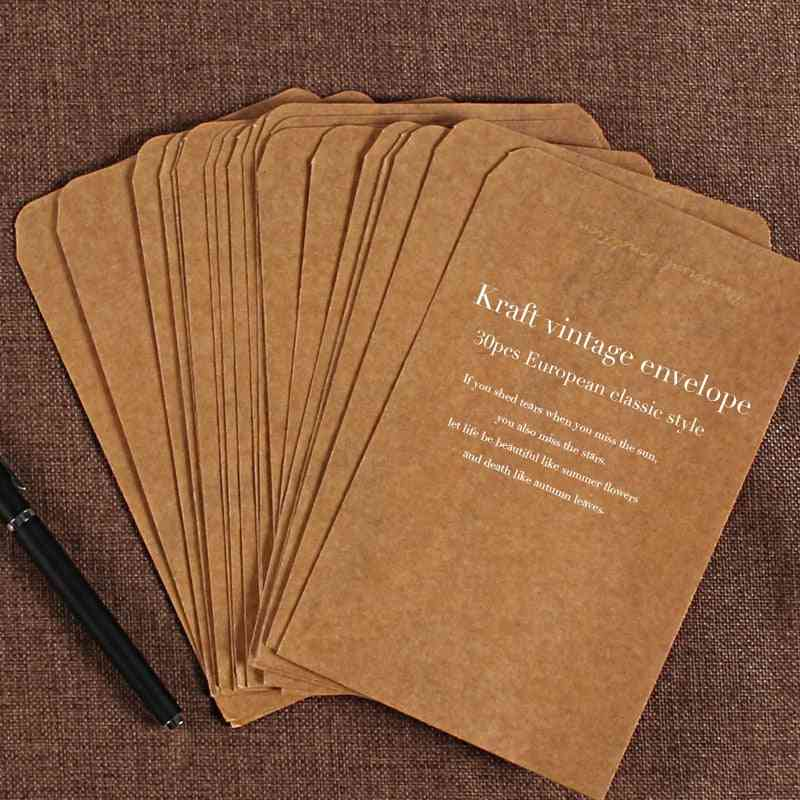 Vintage Kraft Envelopes - Wedding Invited Postcard Cover Paper