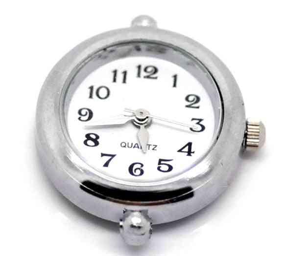 Silver Round Smooth Diy European Charm Bracelet Watch