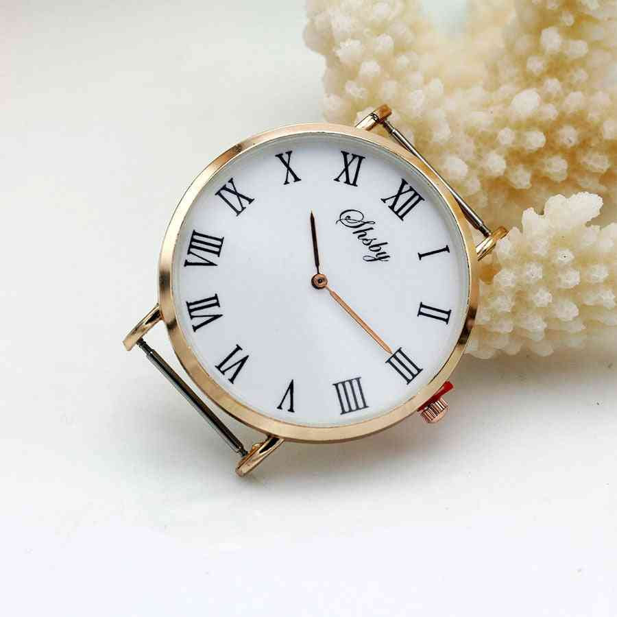 Diy Personality Watch Header, Thin Large Head With Cloth Strap