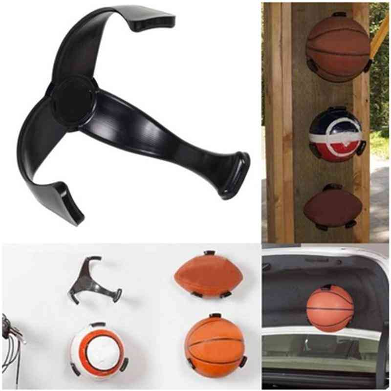 Ball Claw Basketball Holder, Plastic Stand Support Football Soccer Rugby Standing