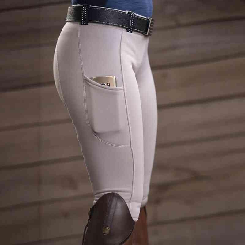 Women's Riding Pants, Elastic Compression High Waist Sports Leggings