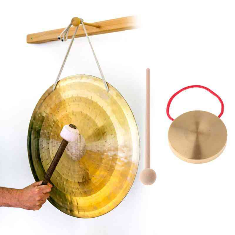 Hand Gong Copper Cymbals With Wooden Stick