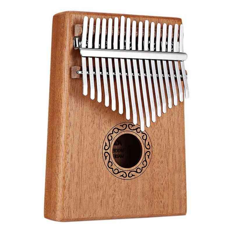 Solid Wood Thumb Finger Piano, Sanza Mbira Calimba Play With Guitar Wood Musical Instruments