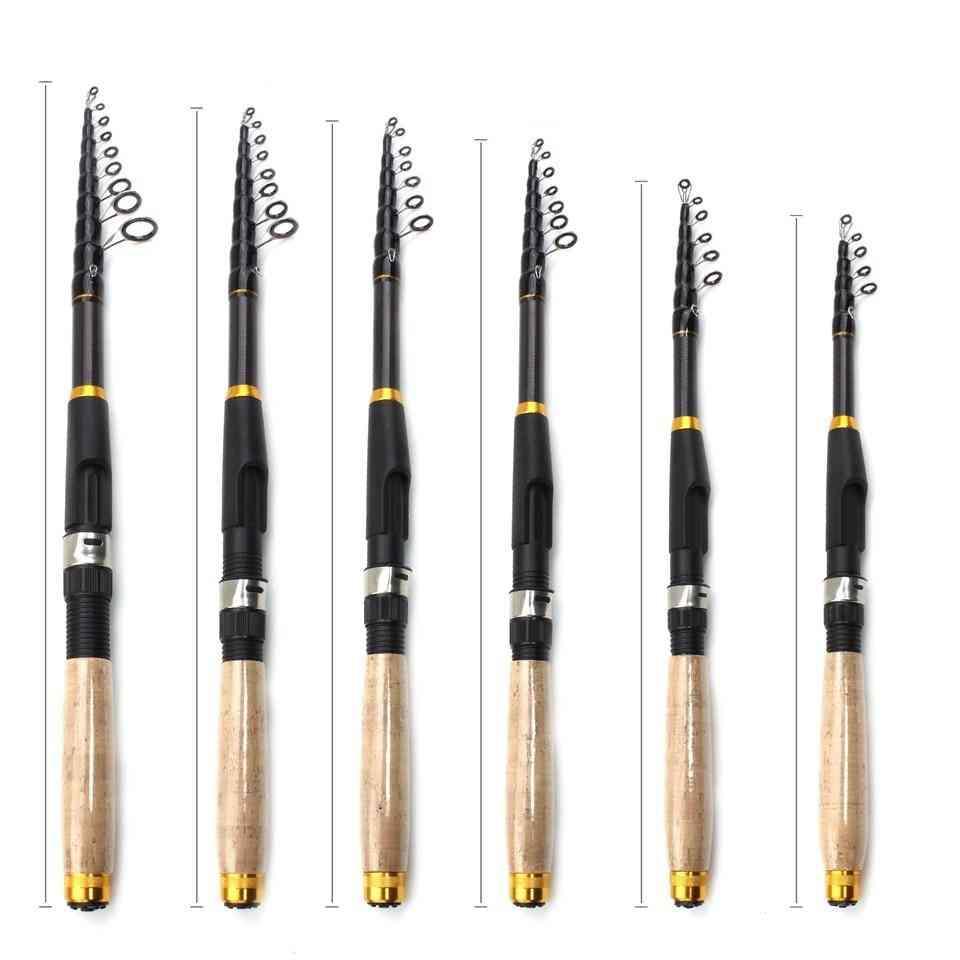 Carbon Fiber Fishing Rod, Super Short Pocket Portable Spinning Pole
