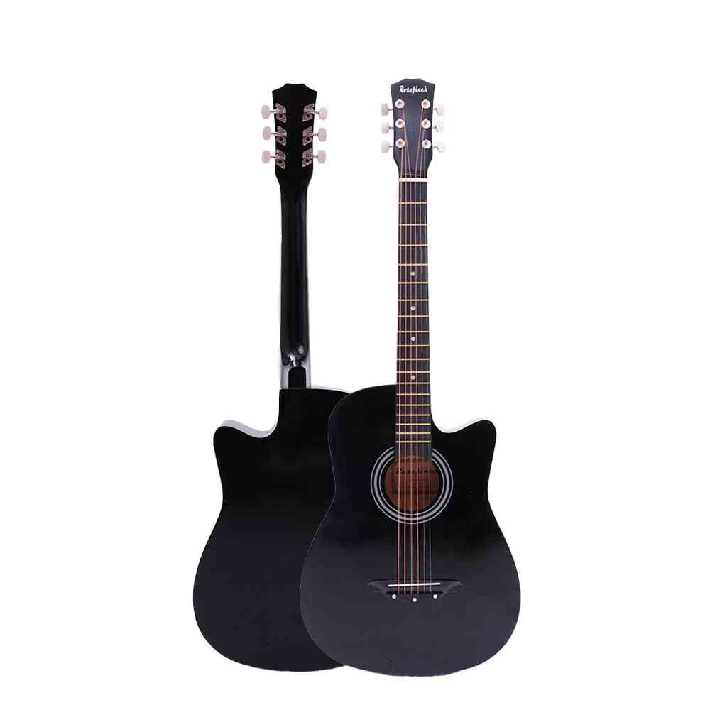Acoustic Guitar For Beginners 6 Strings Basswood With Sets