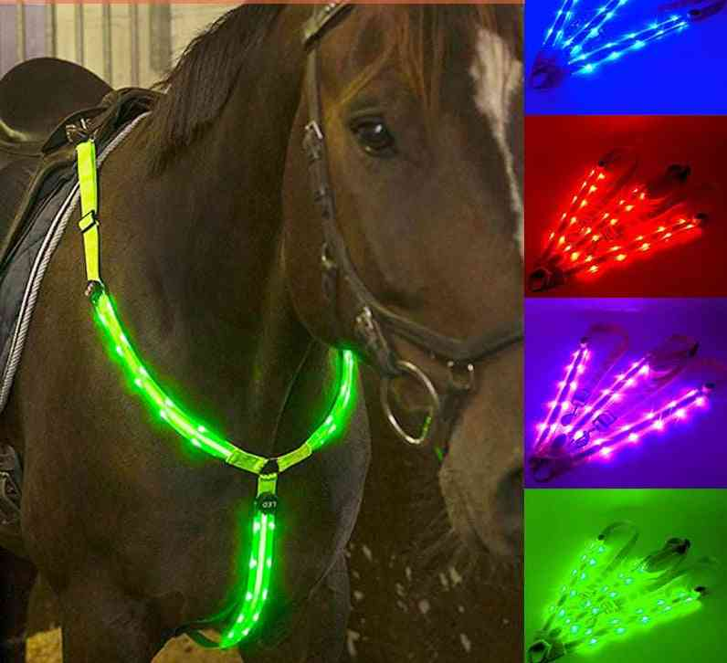 Led Horse Riding Waterproof Night Visible Breastplate Belt