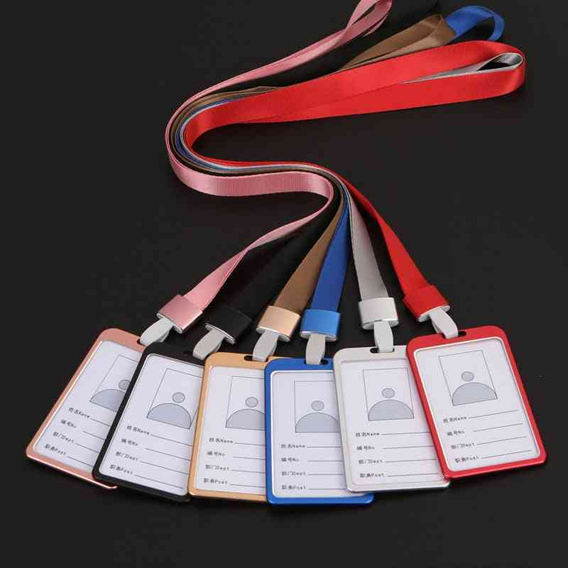 High Quality Aluminium Alloy Card Holder, Employee Name Id Cover, Identity Badge Case