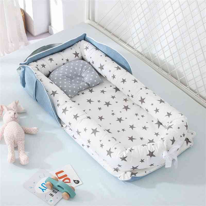 Portable Baby Nest Bed For, Infant Cotton Cradle Crib