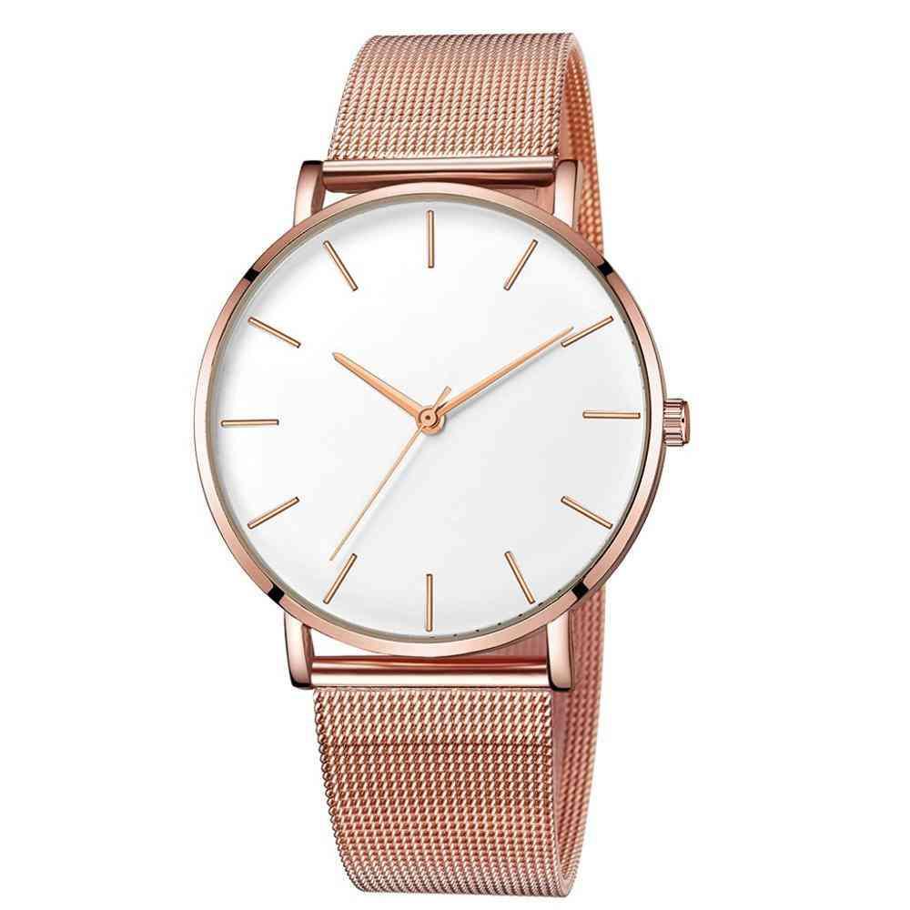 Ultra Thin Watch, Minimalist Mesh Women Watches