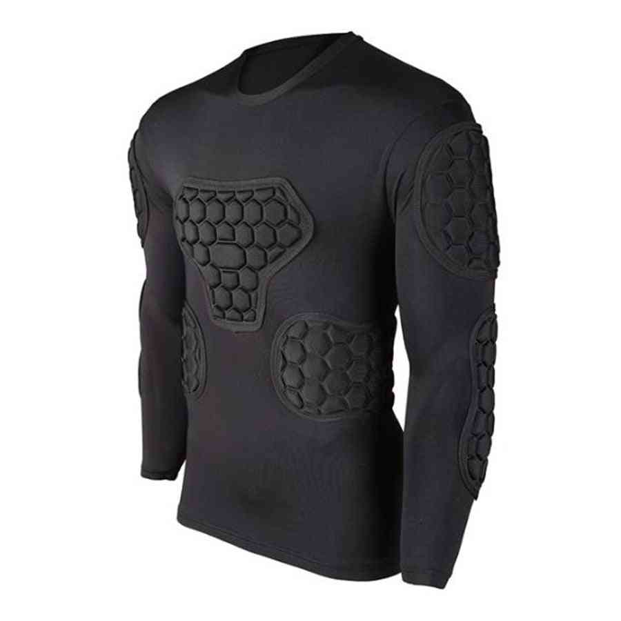 Survetement Football Sports Safety Protection Thicken Soccer Goalkeeper Jersey/elbow Shirts Vest
