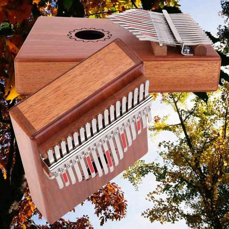 17 Keys Kalimba Thumb Piano With Mahogany Wooden With Bag