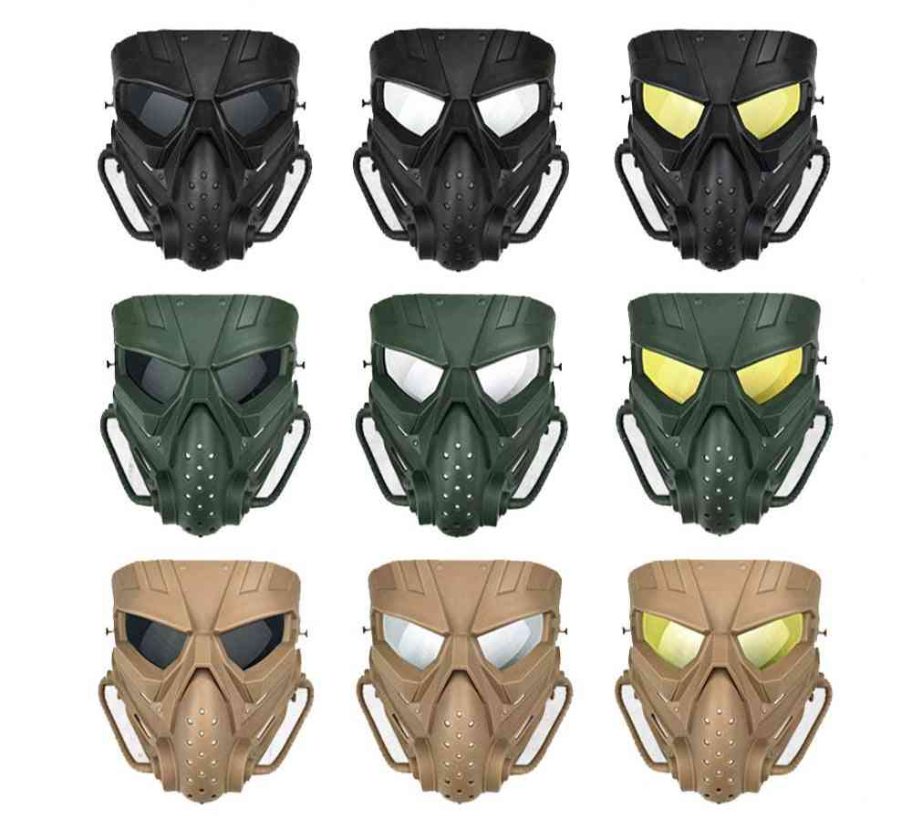 Airsoft Anti-fog Pc-lens Tactical Hunting Mask