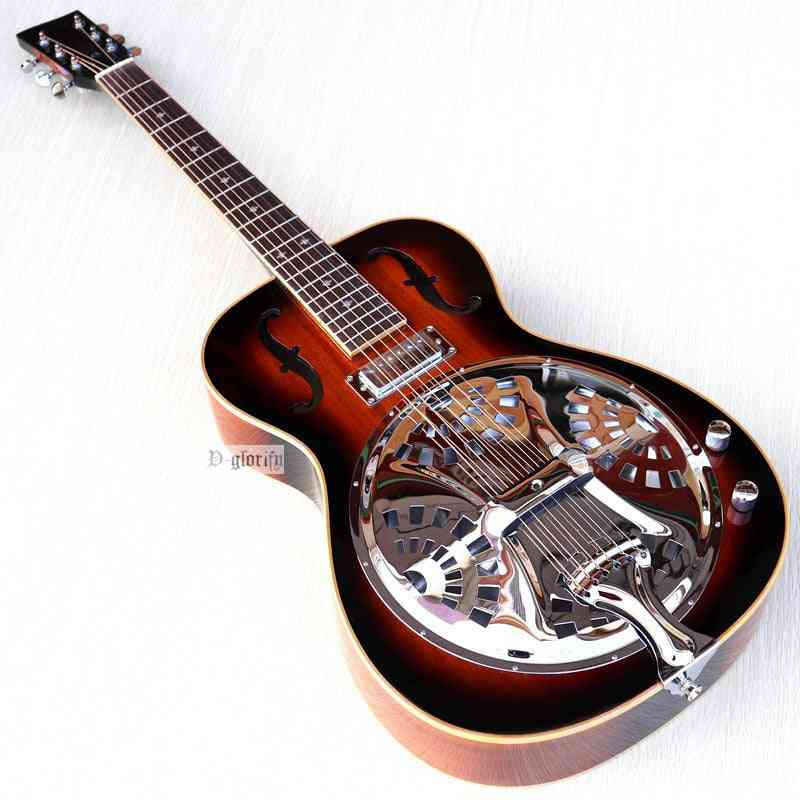 Sunburst Color Solid Mahogany Top-electric Echo Acoustic Guitar