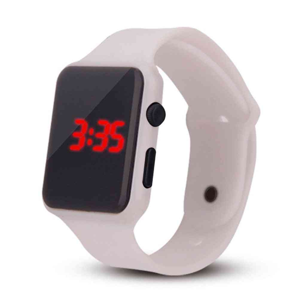 Men Sports Led Digital Watch, Silicone Electronic Wristwatches