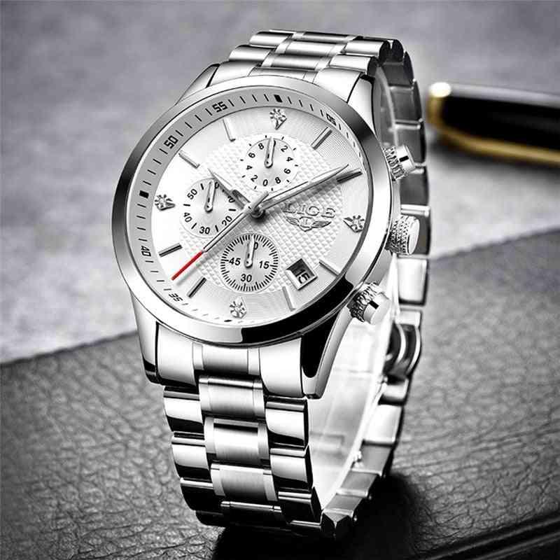 Top Luxury Brand Sport Quartz Chronograph Waterproof Wrist Watch